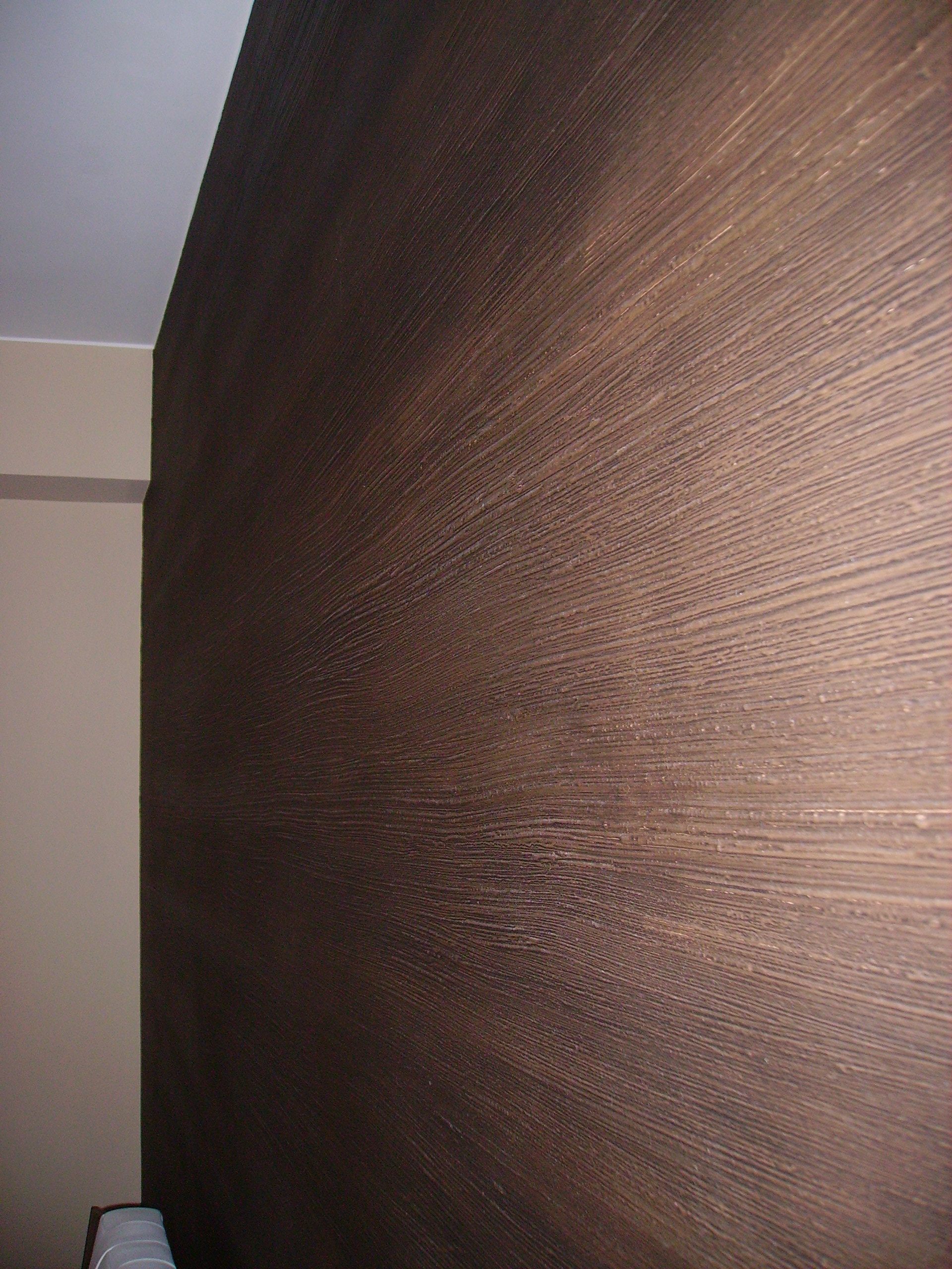 Souvent Wenge' - effetto decorativo a rilievo per le pareti - Ideacolor VZ23