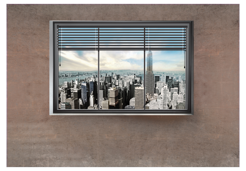 Fotomurale finestra di new york ideacolor for Finestra new york
